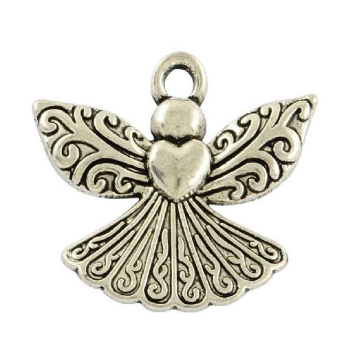 Angel silver charms (5)